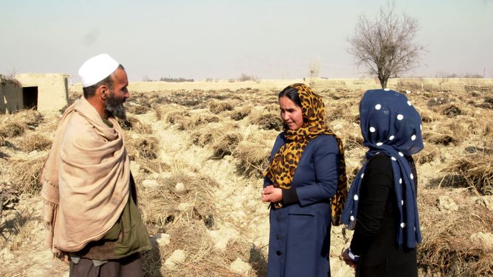 <em>Hafizallah and his two daughters live in Afghanistan's Hindu Kush mountain valley. (Photo via GroundTruth Films)</em>
