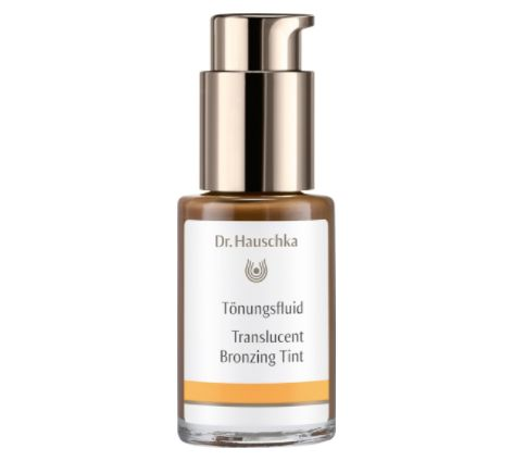 """Translucent bronzing tint, <a href=""""https://www.dr.hauschka.com/en_US/natural-skin-care/translucent-bronzing-tint/"""" target=""""_blank"""" role=""""link"""" data-ylk=""""subsec:paragraph;itc:0;cpos:__RAPID_INDEX__;pos:__RAPID_SUBINDEX__;elm:context_link"""">$45 at Dr.hauschka.com</a>"""