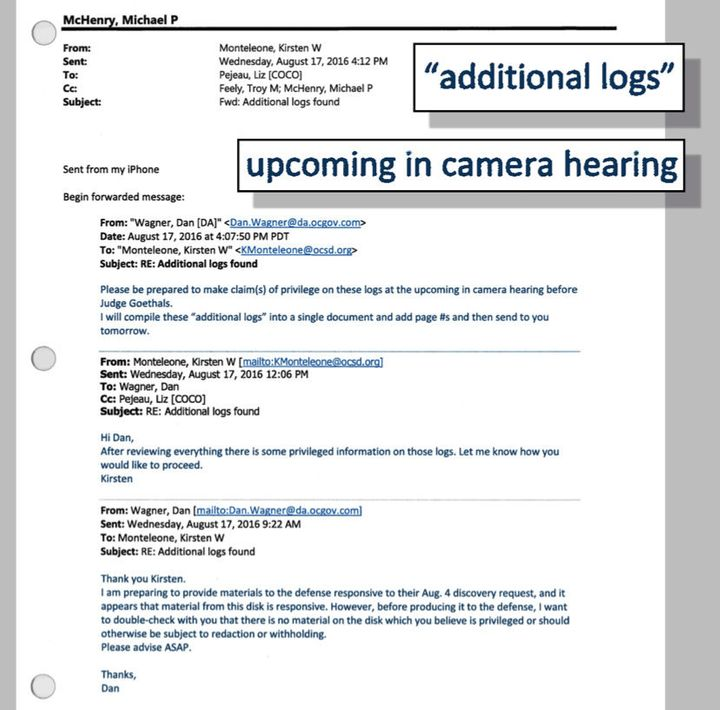 It remains unclear if additional logs identified in an email were ever turned over to the court.