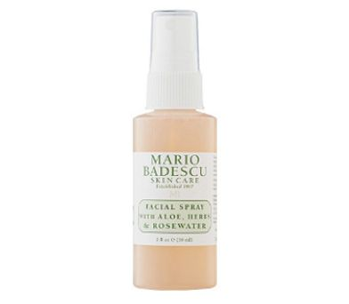 "Mario Badescu travel size facial spray, <a href=""http://www.ulta.com/travel-size-facial-spray-with-aloe-herb-rosewater?productId=xlsImpprod15511101"" target=""_blank"">$5 at Ulta</a>"