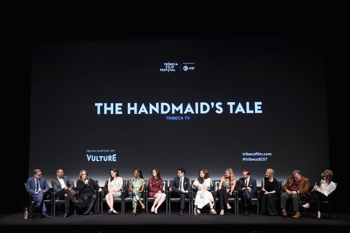 """The Handmaid's Tale"" panel at the Tribeca Film Festival in New York City on Friday."