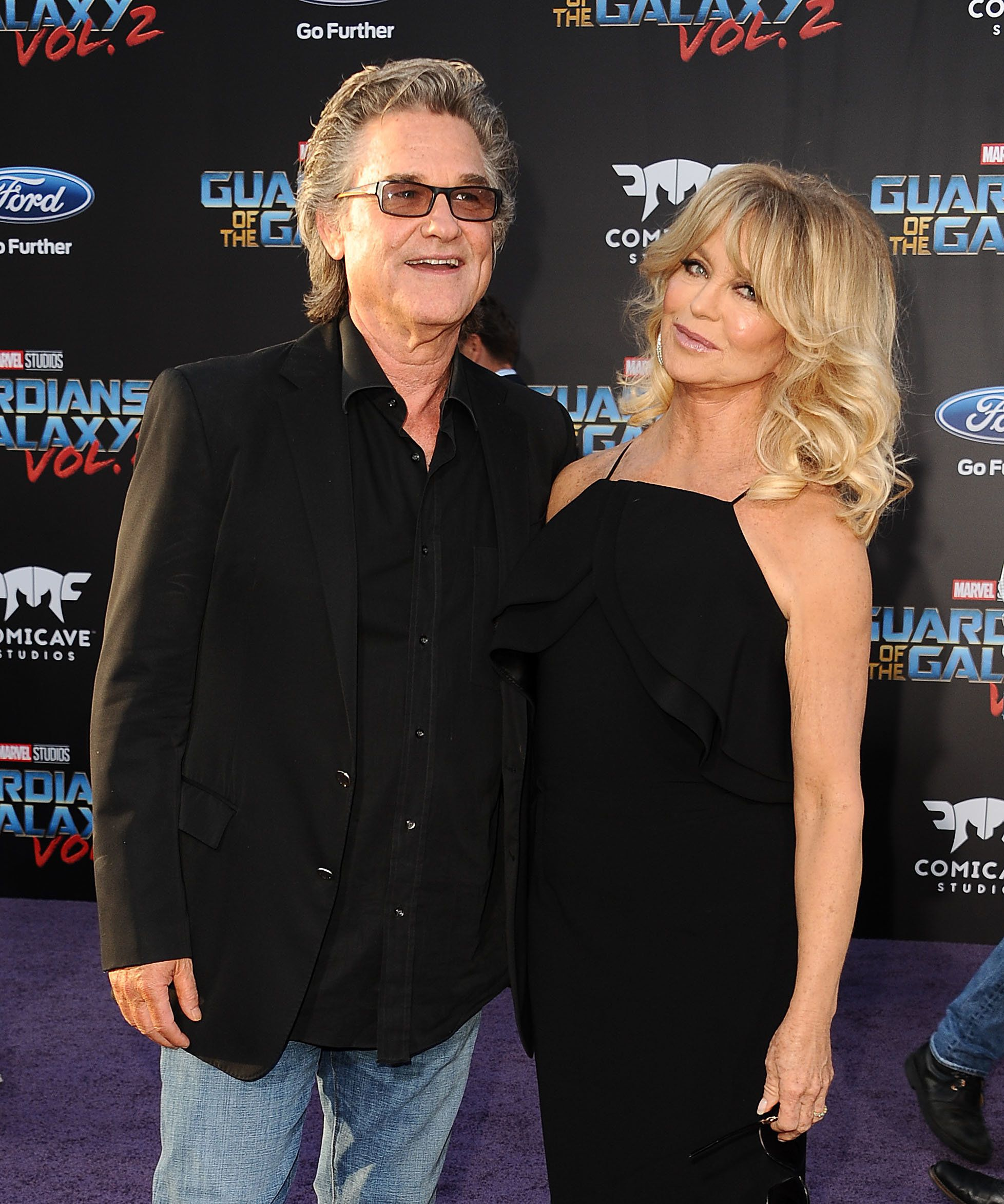 HOLLYWOOD, CA - APRIL 19:  Actor Kurt Russell and actress Goldie Hawn attend the premiere of 'Guardians of the Galaxy Vol. 2' at Dolby Theatre on April 19, 2017 in Hollywood, California.  (Photo by Jason LaVeris/FilmMagic)