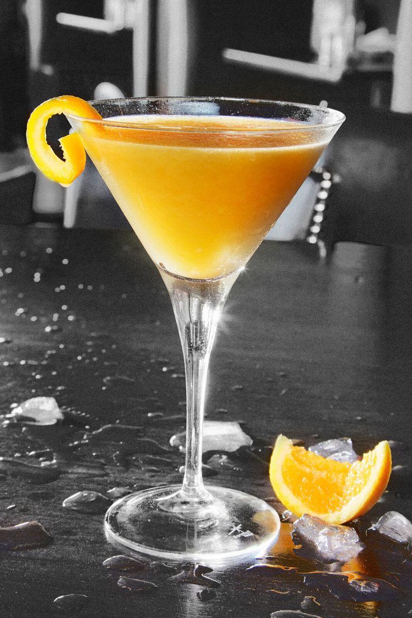 """The Clover"", Maker's Mark, Courvosier, agave nectar, lemon and orange, orange twist"