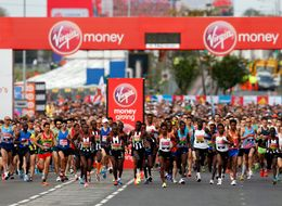 Record Numbers Of Runners Turn Out For The London Marathon