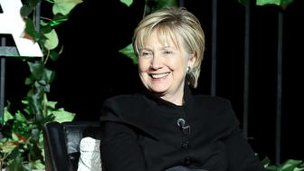 NEW YORK, NY - APRIL 22:  Former United States Secretary of State Hillary Clinton speaks on stage at 'Tribeca Talks: Kathryn Bigelow & Imraan Ismail', during the 2017 Tribeca Film Festival, at Spring Studios on April 22, 2017 in New York City.  (Photo by Monica Schipper/Getty Images for Tribeca Film Festival)