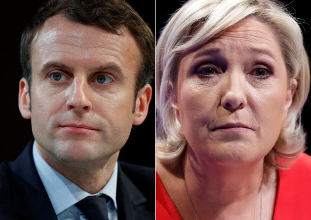 Emmanuel Macron, head of the political movement En Marche!, and Marine Le Pen, French National Front...