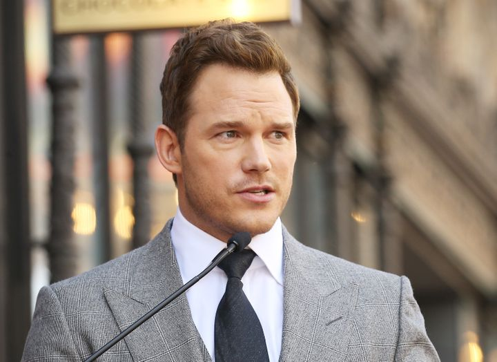 Chris Pratt attends the ceremony honoring him with a Star on The Hollywood Walk of Fame.
