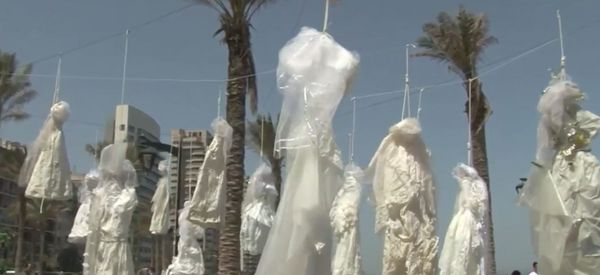Lebanese Activists Protest 'Stone Age' Rape Law With Haunting Public Art Piece