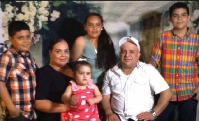 Maribel Trujillo Diaz with her family. Trujillo Diaz was detained on her way to work and deported last Wednesday.