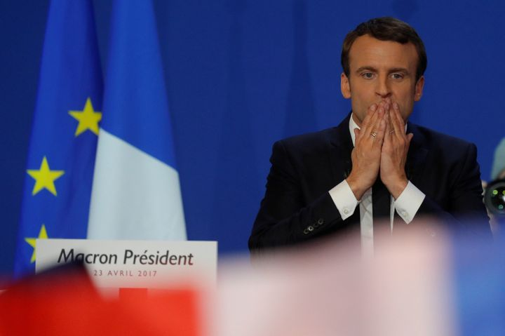 """""""I want to be the president of patriots against the threat of nationalists,"""" Emmanuel Macron said on Sunday eveni"""