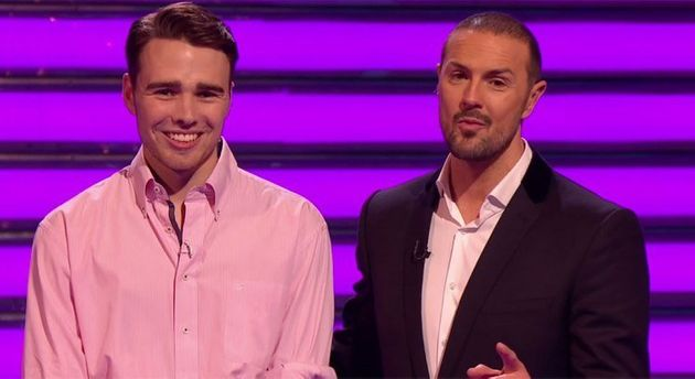 Charlie Watkins with 'Take Me Out' host Paddy