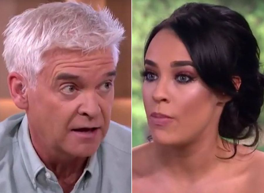 Phillip Schofield and Stephanie Davis clashed on 'This