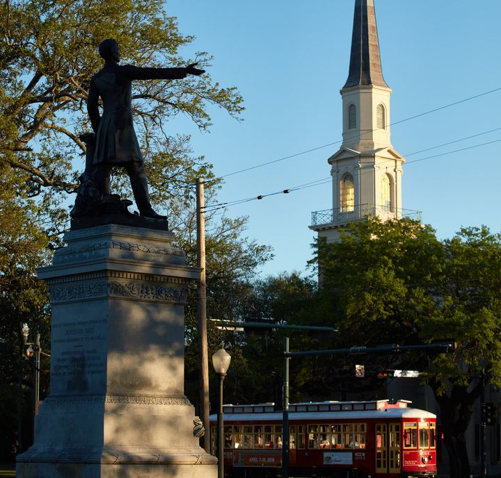 The city's Jefferson Davis statue will be removed in the coming days.