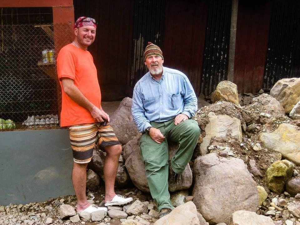 Tom Hewitt (left), director of travel company Adventure Alternative Borneo, captured a photograph of...