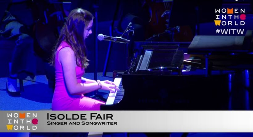 Isolde Fair performing at the #WITW Summit in NYC