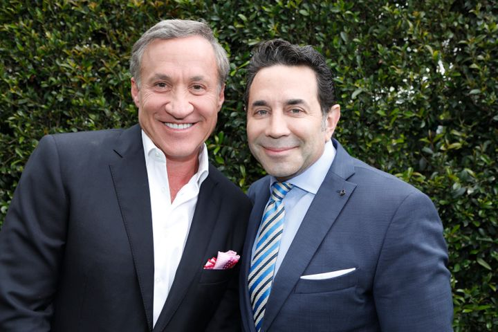 "Dr. Terry Dubrow and Dr. Paul Nassif of ""Botched"" pose together. Season 4 of the show premieres Sunday, June 18th at 9 p"