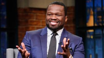 LATE NIGHT WITH SETH MEYERS -- Episode 454 -- Pictured: Curtis '50 Cent' Jackson during an interview on November 23, 2016 -- (Photo by: Lloyd Bishop/NBC/NBCU Photo Bank via Getty Images)