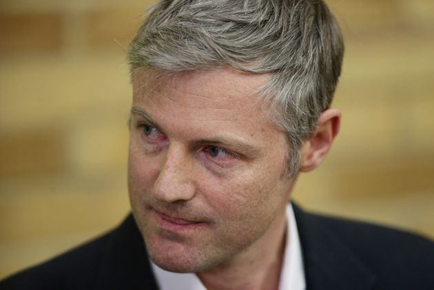 Zac Goldsmith listening to newly-elected Liberal Democrat MP Sarah Olney speaking, during the Richmond...