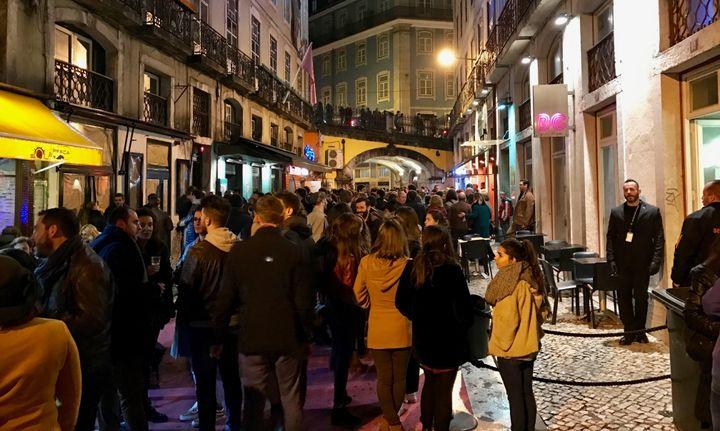 <p>Pink Street, Lisbon</p>