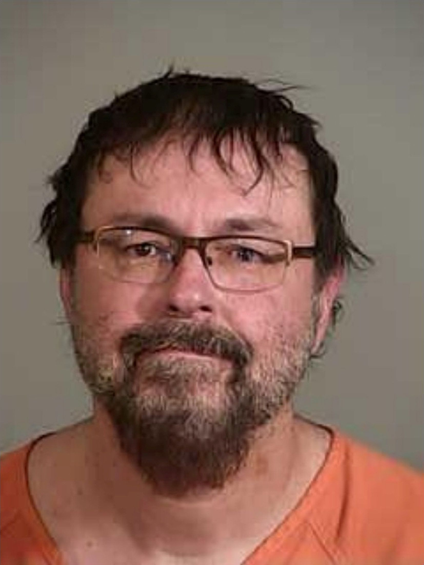 Tad Cummins, 50, a former Tennessee high school teacher accused of abducting a 15-year-old student in March, seen in this booking photo after his arrest by Siskiyou County Sheriff's Department's Special Response Team (SRT) in Cecilville area of Siskiyou County, California, U.S. on April 20, 2017.    Courtesy SCSO/Handout via REUTERS    ATTENTION EDITORS - THIS IMAGE WAS PROVIDED BY A THIRD PARTY. EDITORIAL USE ONLY.    TPX IMAGES OF THE DAY