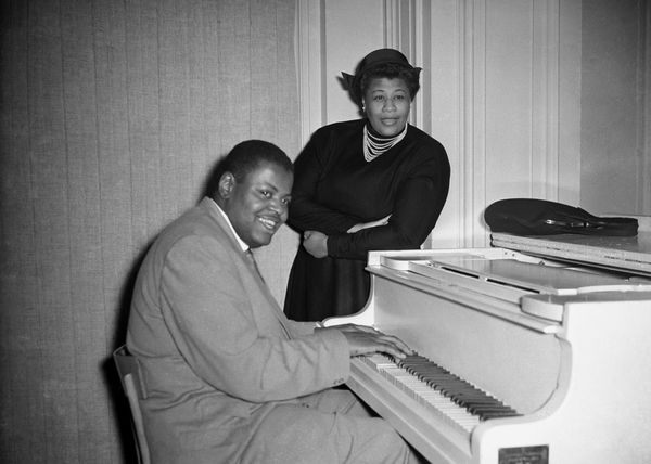 Jazz pianist Oscar Peterson and Ella Fitzgerald in 1954.