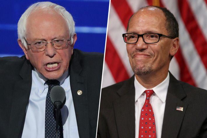 Bernie Sanders and Tom Perez.