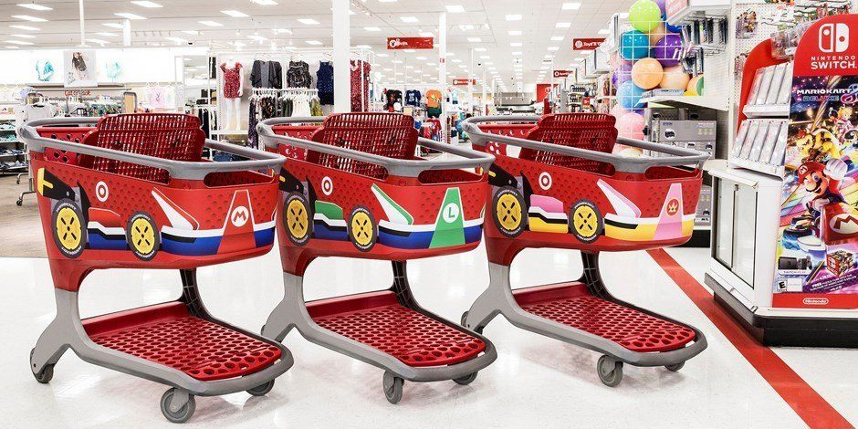 "In honor of the April 28th launch of <a href=""http://www.target.com/p/mario-kart-153-8-deluxe-nintendo-switch/-/A-52161278"" target=""_blank"">Mario Kart 8 for Nintendo Switch</a>, Target has unveiled themed shopping carts."