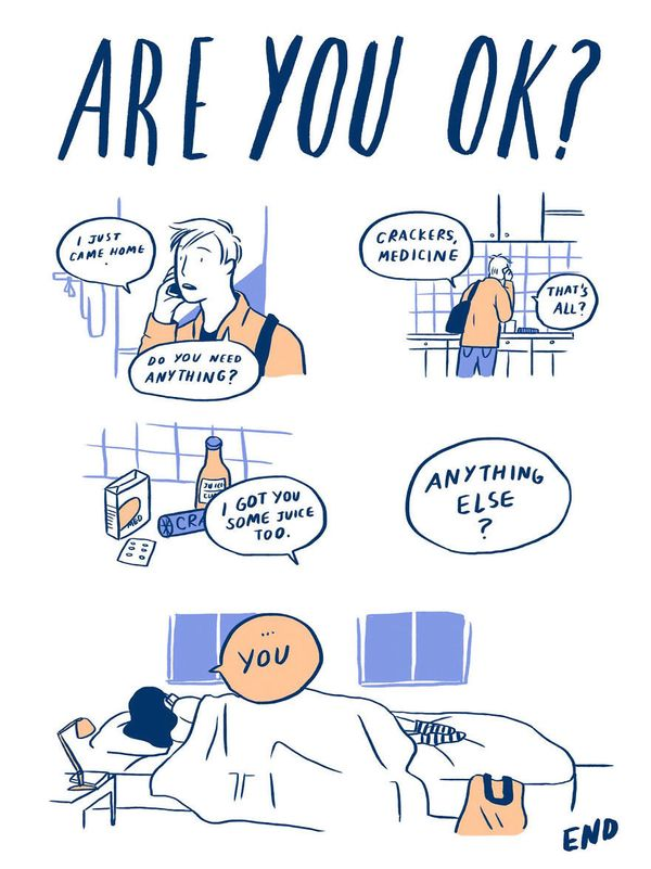 9 Relatable Comics That Capture The Non-Cheesy Side Of Love 58fe3d141400002000a9b7eb