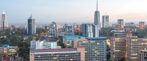 DOWNTOWN DISTRICT TRAFFIC SKYSCRAPER ILLUMINATED HISTORY DEVELOPMENT MULTI COLORED RED FAMOUS PLACE EAST BUSINESS ARCHITECTURE OUTDOORS NAIROBI