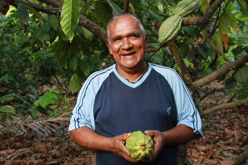 Victor Haroleon, member of UNOCACE cacao cooperative, Ecuador, an Alter Eco cacao cooperative partner. Alter Eco is a brand c