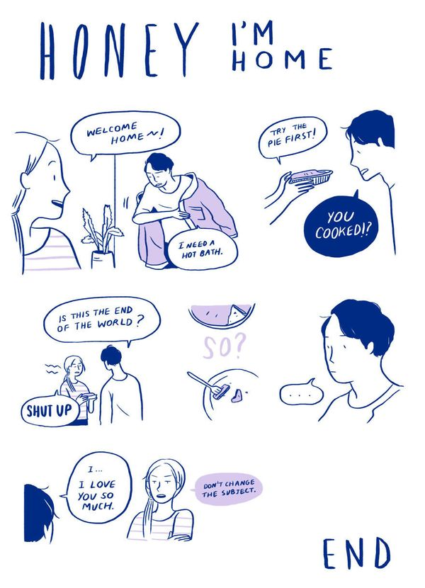 9 Relatable Comics That Capture The Non-Cheesy Side Of Love 58fe43001400001f00a9b831