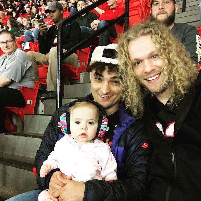 Joey (left) and Josh with Myles