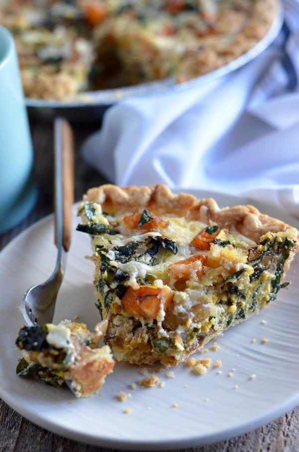 "<strong>Get the <a href=""http://www.mountainmamacooks.com/2016/11/butternut-squash-kale-quiche-creme-fraiche/"" target=""_blank"