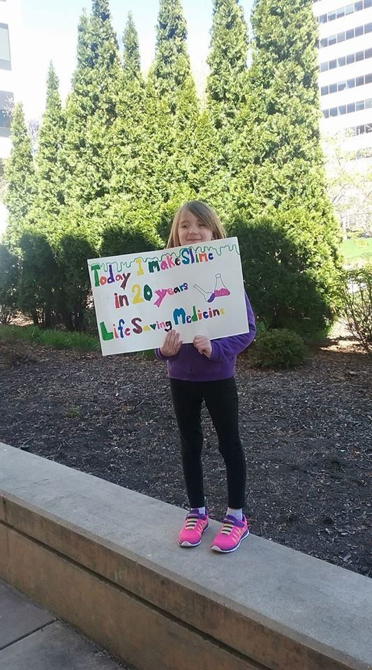 Juliette, 7 years old, marched in Milwaukee.