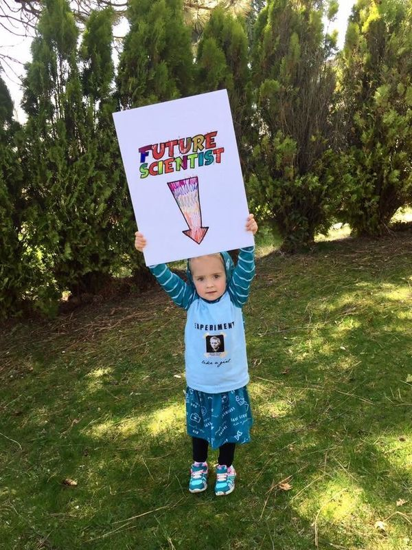 Evelien, 4 years old, marched in Washington state.