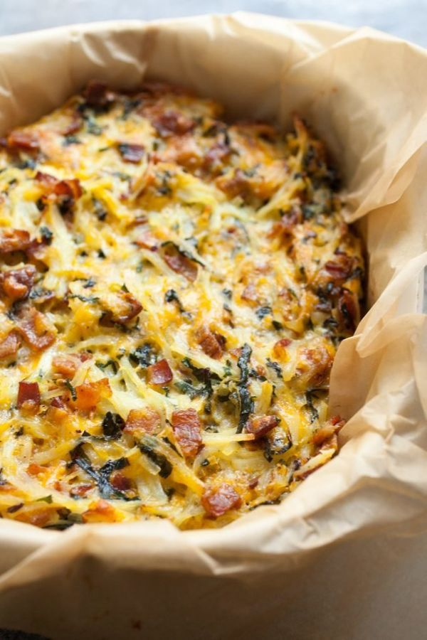 "<strong>Get the <a href=""https://www.macheesmo.com/potato-breakfast-pie-with-bacon-and-kale/"" target=""_blank"">Potato Breakfas"