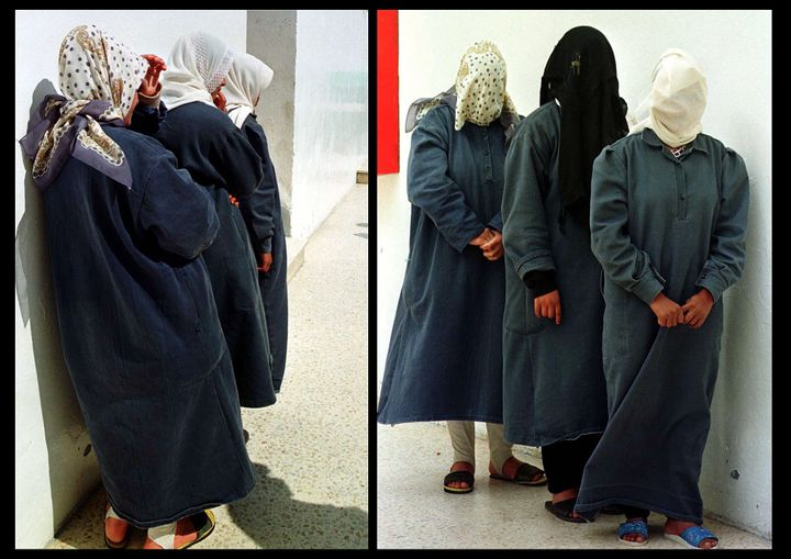 Three Jordanian women, their faces covered to hide their identity, were raped, assaulted or had relationships outside marriag