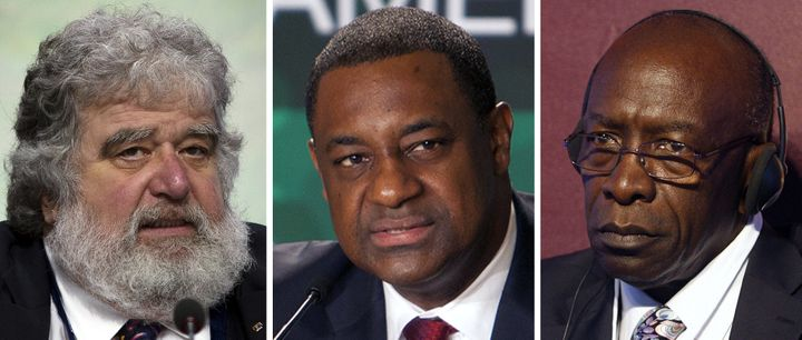 Former CONCACAF General Secretary Chuck Blazer, former CONCACAF President Jeffrey Webb, and former FIFA Vice President and CO