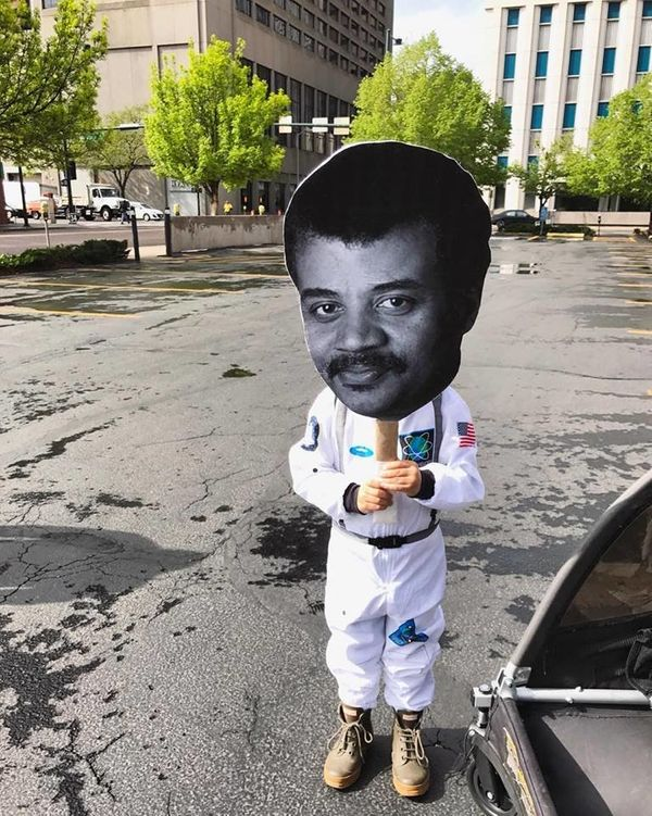Rhett, 4 years old, marched in Denver.