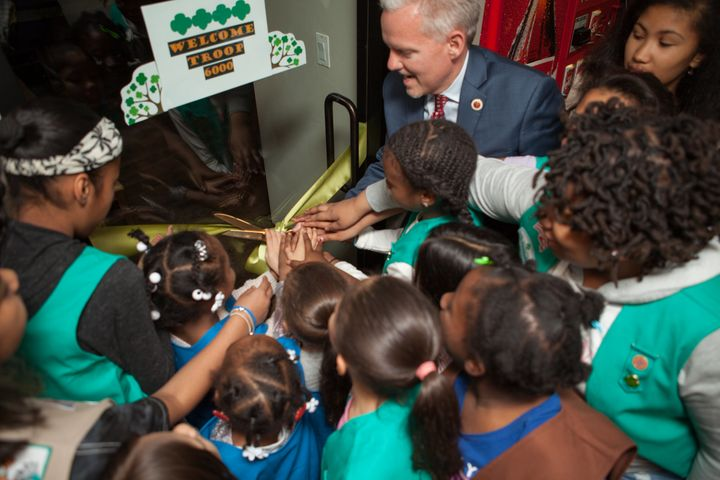 "New York City Council Majority Leader Jimmy Van Bramer said the troop is ""just about the most right thing"" in which he's ever been involved."