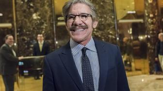 Political commentator Geraldo Rivera speaks to members of the media in the lobby of Trump Tower in New York, U.S., on Friday, Jan. 13, 2017. President-elect Donald Trump said his administration would produce a full report on hacking within the first 90 days of his presidency and accused 'my political opponents and a failed spy' of making 'phony allegations' against him. Photographer: Albin Lohr-Jones/Pool via Bloomberg
