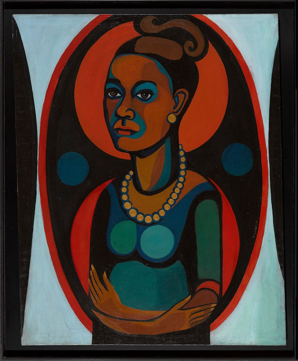 "Faith Ringgold (American, b. 1930), ""Early Works #25: Self-Portrait,"" 1965, oil on canvas, 50 x 40 inches."
