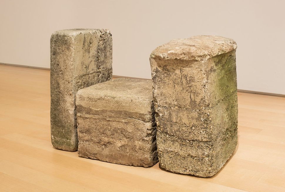 "Beverly Buchanan (American, 1940-2015), ""Untitled (Frustula Series),"" circa 1978, cast concrete."