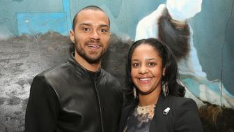 LOS ANGELES, CA - JANUARY 23: Jesse Williams and Aryn Drakelee-Williams attend the Art Los Angeles Contemporary Reception at the home of Gail and Stanley Hollander on January 23, 2013 in Los Angeles, California.  (Photo by Jesse Grant/WireImage)