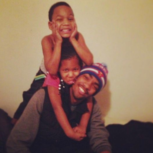 Daivon Reeder with two of his siblings,Dontay and Shatima.