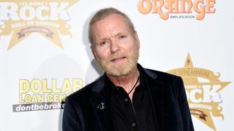 "Gregg Allman poses during 10th annual ""Classic Rock Roll of Honour"" awards in Los Angeles, California November 4, 2014. REUTERS/Kevork Djansezian  (UNITED STATES - Tags: ENTERTAINMENT)"