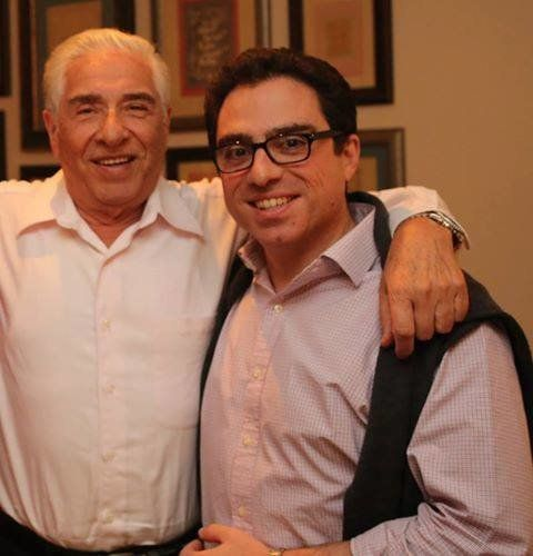 Baquer and Siamak Namazi are seen in a photo on a Facebook page.