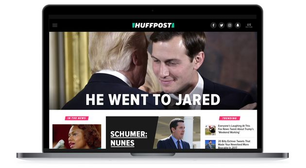 HuffPost's redesigned front