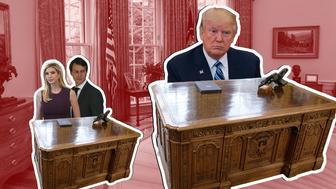 President Donald Trump and his White House nepotism issue