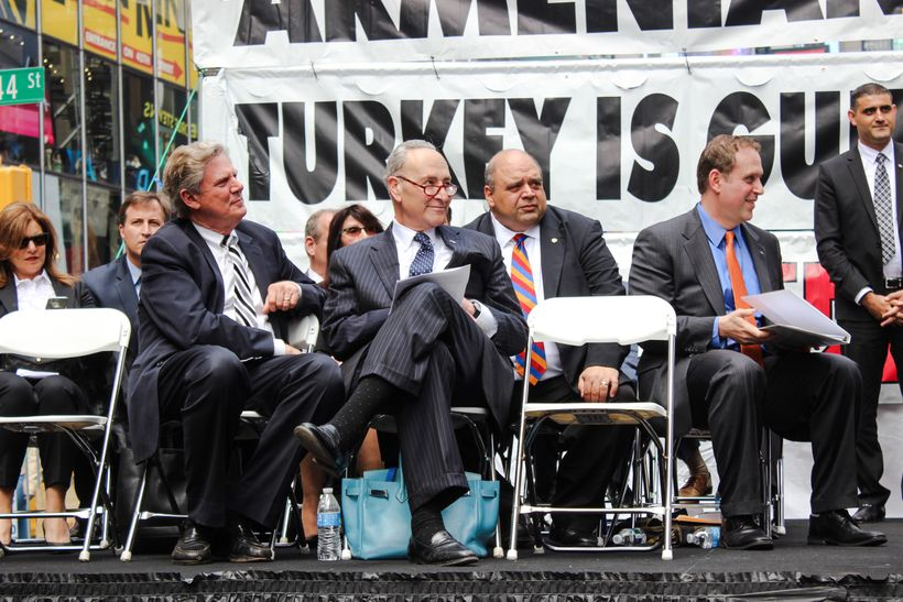 <strong>Reps. Frank Pallone and Chuck Schumer Listening Intently</strong>